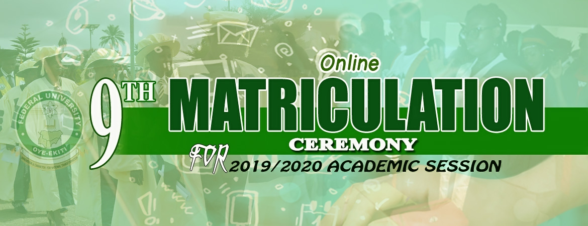 NOTIFICATION OF 2019/2020 ONLINE MATRICULATION EXERCISE